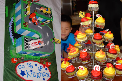 mach 5 birthday cake