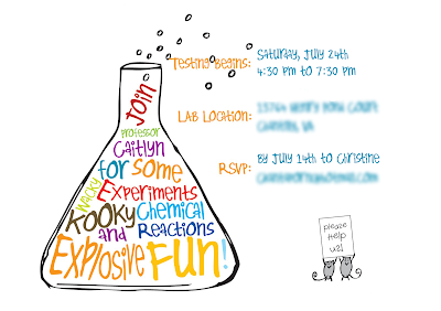 mad science invitation