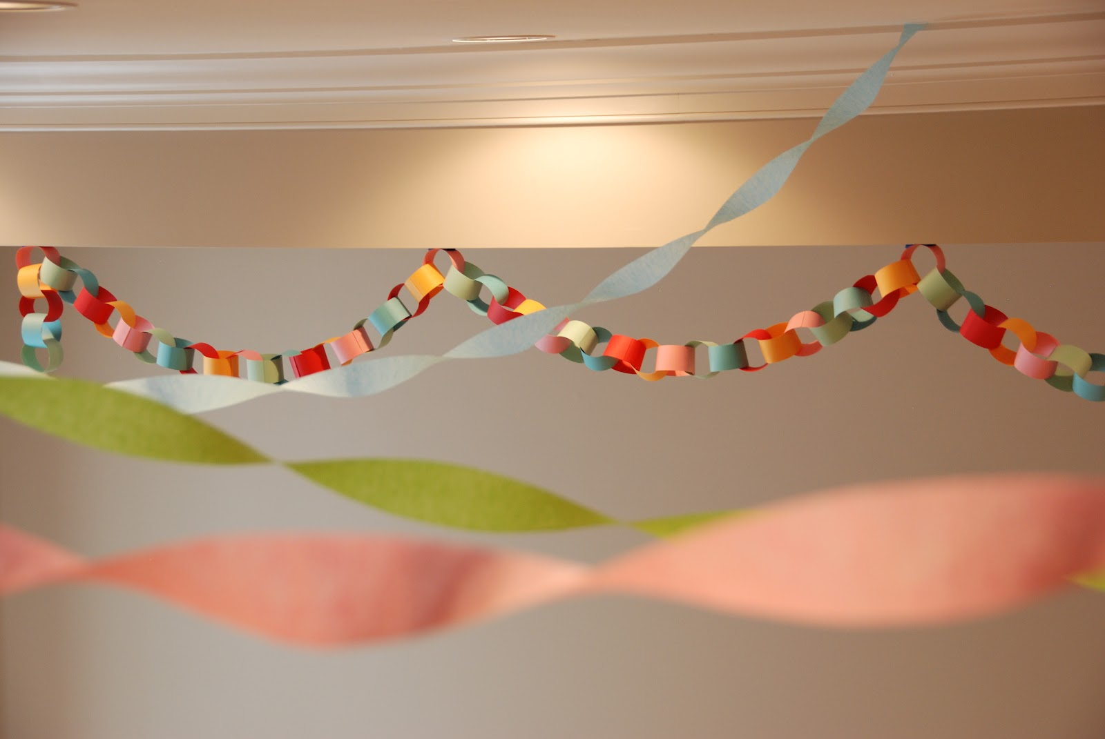 paper chains Paper chain definition: a decorative chain of loops of coloured paper | meaning, pronunciation, translations and examples.