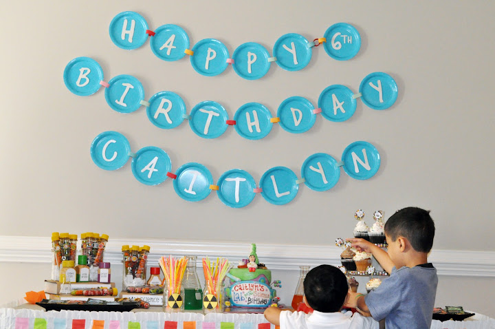 mad science birthday banner