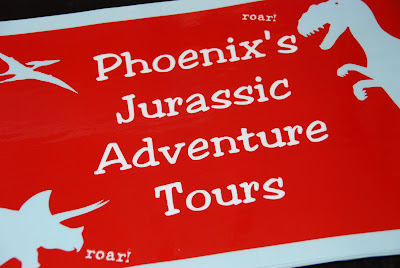 jurassic adventure tours sign
