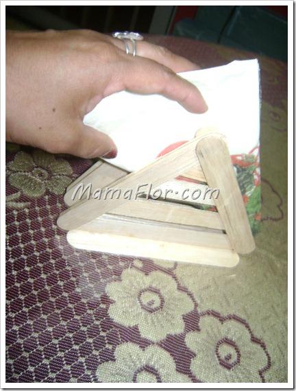 Como hacer un servilletero con bajalenguas