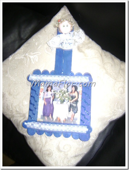Portaretrato con bajalenguas para decorar el hogar manualidades mamaflor - Manualidades para decorar el hogar ...