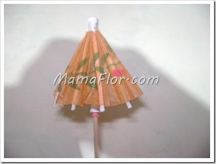 Como hacer un paraguas con papel de seda