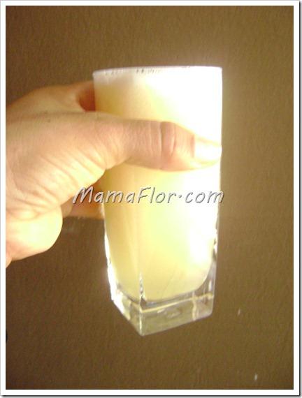 Como preparar el jugo de pina con leche