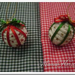 Aprende a hacer Bolas Navideñas para Decorar tu Árbol de Navidad, paso a paso