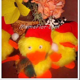 Como hacer Muñecos para Navidad: Pollito Navideño