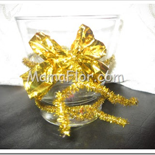 Como decorar un vaso de brindis para ano nuevo