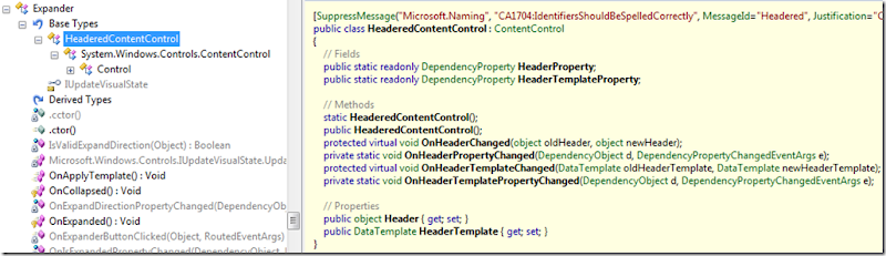 HeaderedContentControl in Silverlight Toolkit
