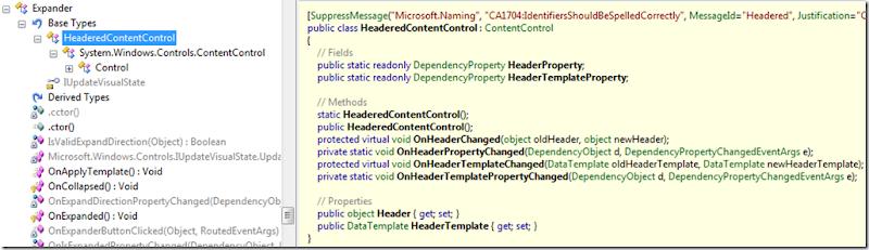 HeaderedContentControl in Silverlight Toolkit