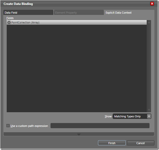Create Data Binding Dialog