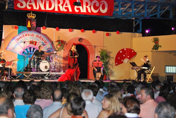 Actuación de Sandra Arco