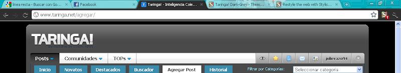 Cambia El Estilo De Taringa!, YouTube o Facebook