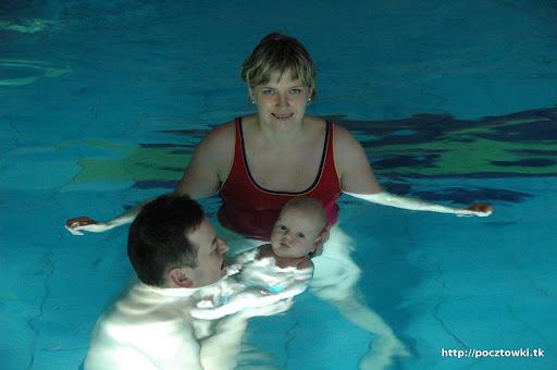 Mama też ze mną pływała chwilę