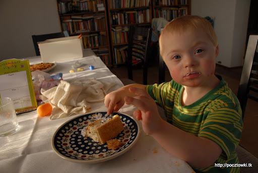 Marcinek uwielbia ciasteczka