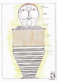 Werkskizze zu Figur 2b - Taucher