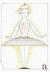 Werkskizze zu Figur 1 - Tänzerin