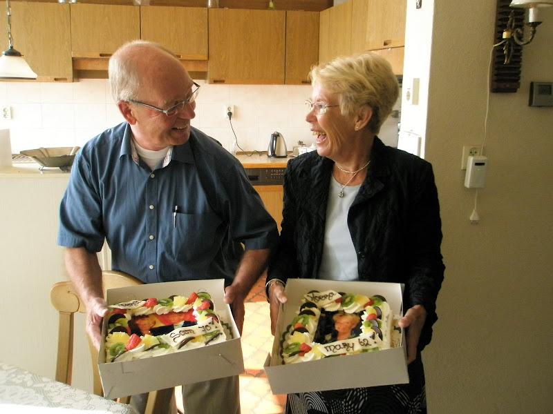 Verjaardag Sam & Mary met taart