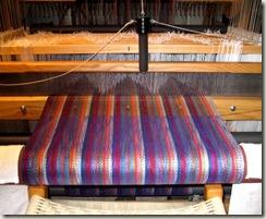 shawl-on-loom