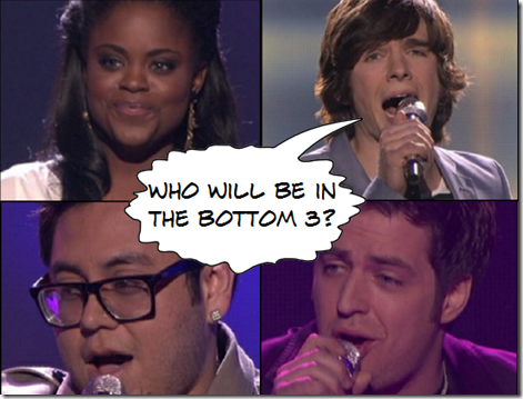 American Idol Top 11 Who Are in the Bottom 3 List March 24