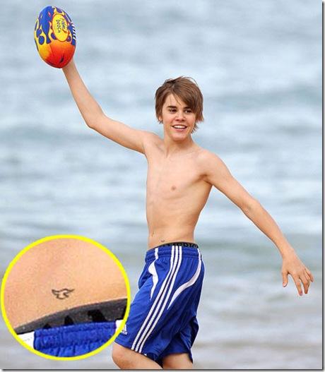 Tattoo of Justin Bieber