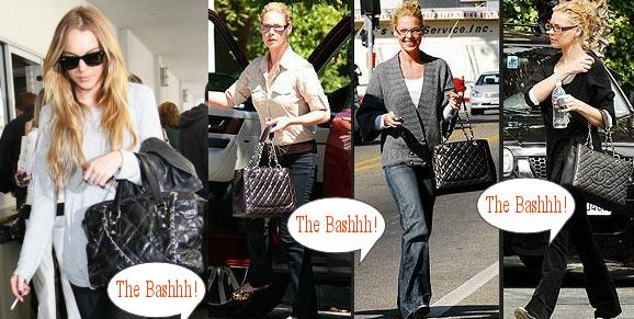 Lindsay Lohan and Katherine Heigl Chanel Quilted Bags