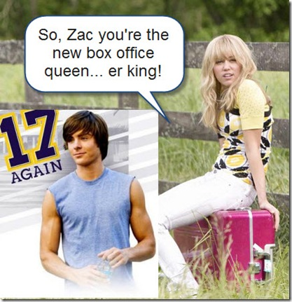 Zac Efron and Miley Cyrus US Box Office