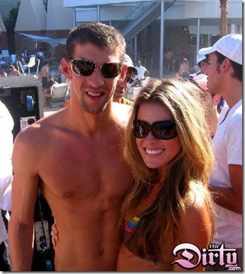 Carrie Prejean and Micheal Phelps Without Implants Yet