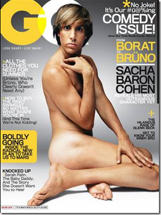 Bruno on GQ July cover
