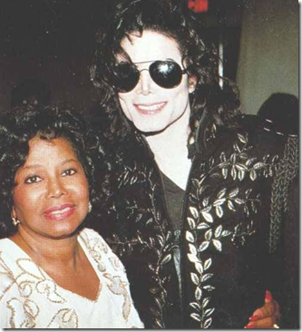 Michael Jackson with mom Katherine