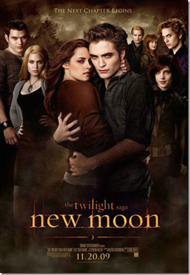 Kristen Stewart and Robert Pattinson New Moon movie poster