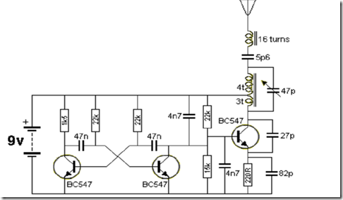 radio circuits blog  27mhz transmitter with square