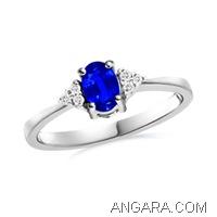 Oval-Ceylon-Blue-Sapphire-Ring-with-Diamond-Accents-in-Platinum-(6x4-mm)_SRW0377SH_Reg