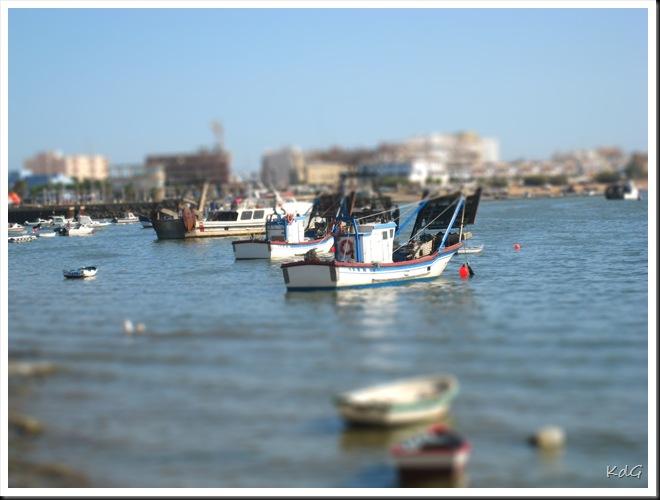 Isla Cristina tilt-shited