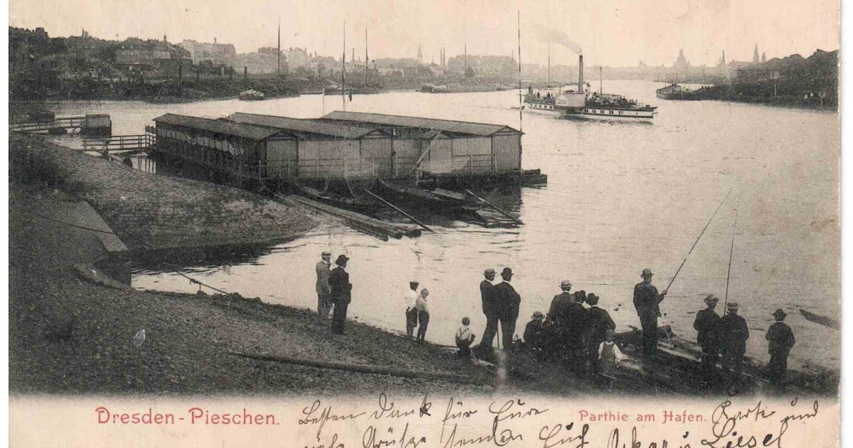 hafen dresden pieschen 1905 dresden postkarte. Black Bedroom Furniture Sets. Home Design Ideas