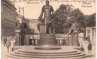 Dresden, Bismarck-Denkmal 1911