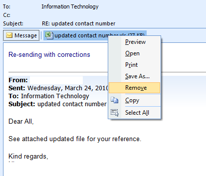 How To Remove Email Attachments In Outlook Without Deleting the Message