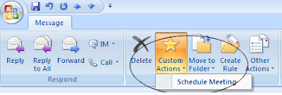Outlook Plugin to convert email into a meeting request