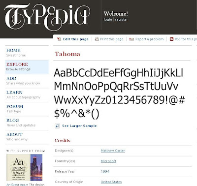 Shared Encyclopedia of Typefaces or Fonts