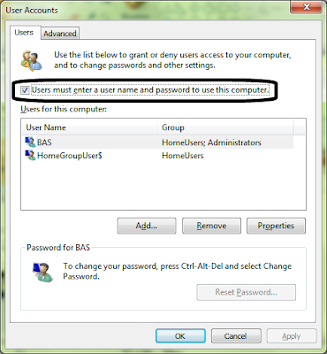 Auto Login on Windows 7 or Vista