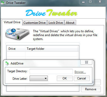 Create Virtual Drive With Drive Tweaker