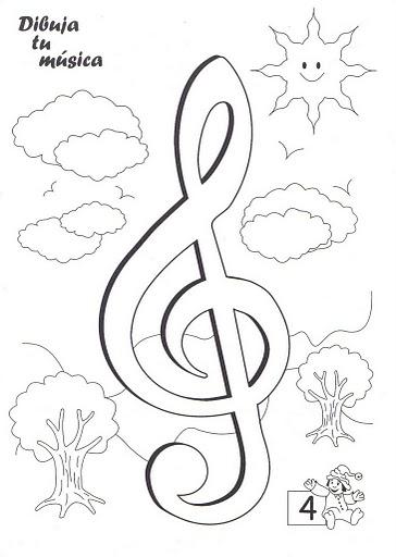 DIBUJA LA MUSICA - CUADERNO DE MUSICA PARA NIÑOS