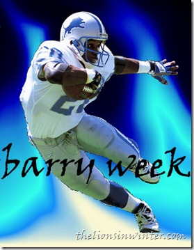 The Lions in Winter celebrates Barry Sanders, with Barry Week