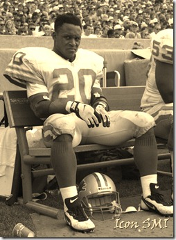 NFL FILE: Barry Sanders of the Detroit Lions.