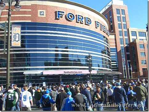 Ford Field before the Lions - Jets game, November 7th 2010