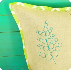 fern on pillow