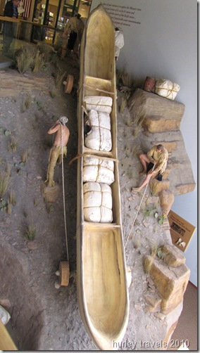 Lewis and Clark expeditioners built their boats, and and then constructed the wheels to portage everything.