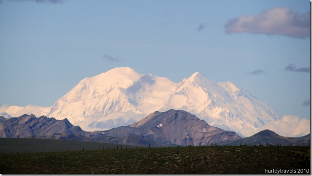 Mt McKinley from 9-mile point on the Park Road in Denali Natl Park