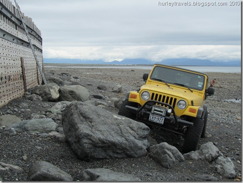 A four-wheeling jaunt on the beach at Homer, AK