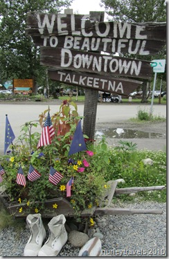Talkeetna, Alaska, pop. 800.